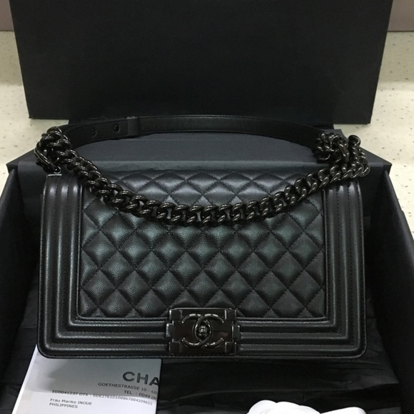 543e8f8b67d9dd CHANEL Bags | Authentic So Black Boy Bag | Poshmark